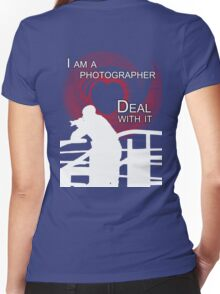 I am Photographer Women's Fitted V-Neck T-Shirt