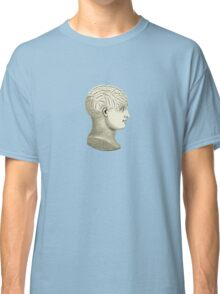 Vintage Brain Phrenology Head  Classic T-Shirt