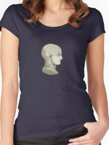 Vintage Brain Phrenology Head  Women's Fitted Scoop T-Shirt