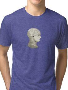 Vintage Brain Phrenology Head  Tri-blend T-Shirt