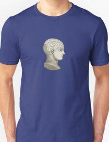 Vintage Brain Phrenology Head  T-Shirt