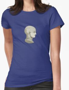 Vintage Brain Phrenology Head  Womens Fitted T-Shirt