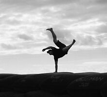 Hand stand by Stecar