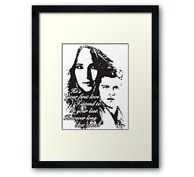 K & C Framed Print
