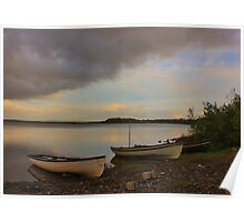 Boats on the Lough Poster