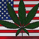 Cannabis American Flag by FloraDiabla
