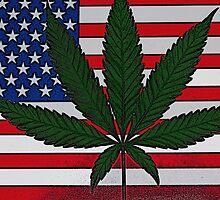 Cannabis American Flag by FloraDiabla