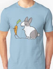 Vampire Bunny Rabbit with Unfortunate Carrot Unisex T-Shirt