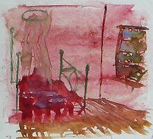 Jean Bellette's Bedroom by Redviolin