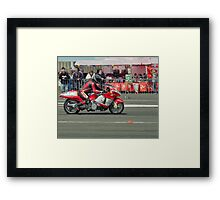Isle of Man TT 2011 Jurby drag racing Framed Print