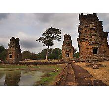 Ancient Towers & Pool - Angkor Thom, Cambodia Photographic Print