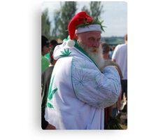 Marijuana Santa Claus Canvas Print