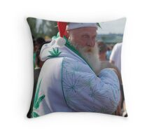 Marijuana Santa Claus Throw Pillow