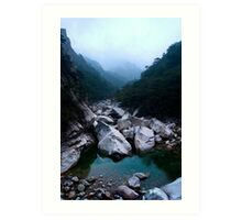 Biseondae Stream - Seoraksan National Park, South Korea Art Print