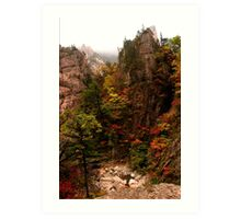 Spires - Seoraksan National Park, South Korea Art Print