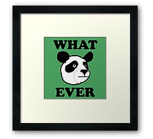 Whatever Funny Panda Framed Print