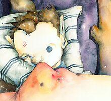 Casey in Bed by Joe Brown