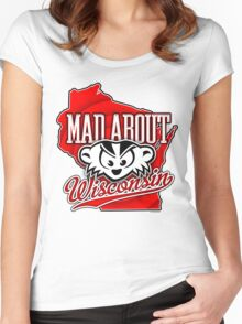 Mad About Wisconsin Women's Fitted Scoop T-Shirt