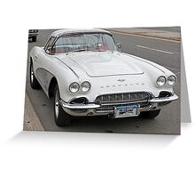 Old 1962 Corvette- full Greeting Card