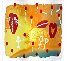 Floating Heart Strings Poster