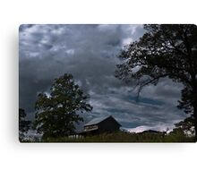 Storm Clouds Over the Farmstead Canvas Print