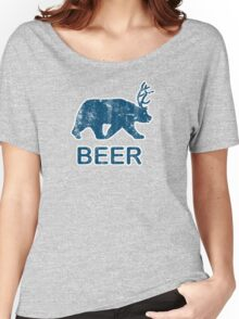 Vintage Beer Bear Deer Women's Relaxed Fit T-Shirt