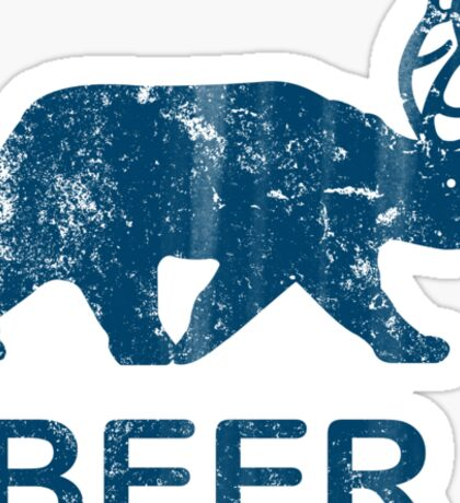 Vintage Beer Bear Deer Sticker