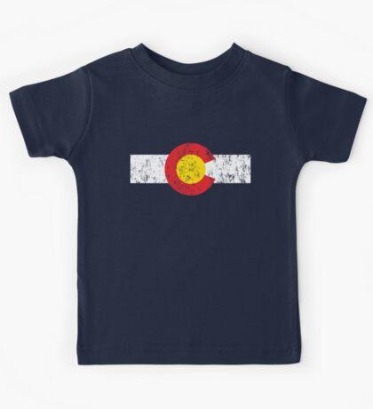 Vintage Colorado Flag Kids Tee