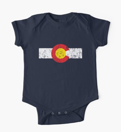 Vintage Colorado Flag One Piece - Short Sleeve