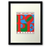 Love Park Pope Framed Print