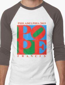 Love Park Pope Men's Baseball ¾ T-Shirt