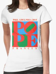 Love Park Pope Womens Fitted T-Shirt