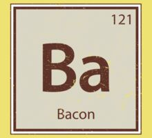 Vintage Bacon Periodic Table Element Kids Tee