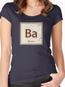 Vintage Bacon Periodic Table Element Women's Fitted Scoop T-Shirt