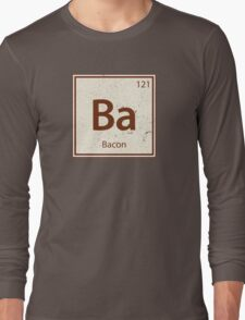 Vintage Bacon Periodic Table Element Long Sleeve T-Shirt