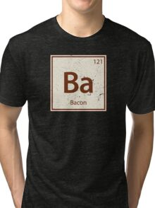 Vintage Bacon Periodic Table Element Tri-blend T-Shirt