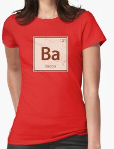 Vintage Bacon Periodic Table Element Womens Fitted T-Shirt