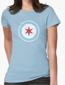 Vintage Chicago Star Womens Fitted T-Shirt