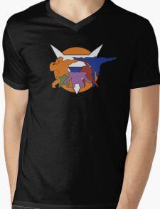 Ginyu Force Pose and Logo (Dragonball Z) Mens V-Neck T-Shirt