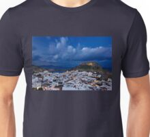 Night falling in Lindos - Rhodes island Unisex T-Shirt