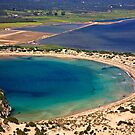 Perfect natural semicircle - Voidokoilia beach by Hercules Milas