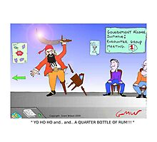 Funny Pirate Alcohol Initiative Cartoon Photographic Print