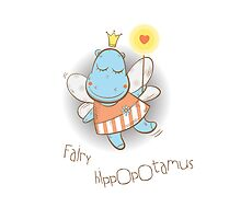 Fairy hippopotamus. by Voron4ihina