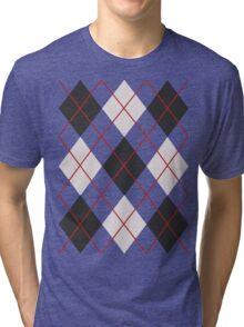 Preppy Diamonds (Black and White) Tri-blend T-Shirt