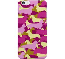 Camo Dachshund Silhouettes - Smooth, Wire, Long, Hair, Coat, Longhair, Wirehair iPhone Case/Skin