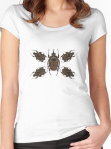 Goliath Flower Beetle Women's Fitted Scoop T-Shirt