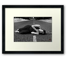 Forget me not, for my journey does not end here Framed Print