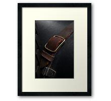 SS1 buckle macro Framed Print