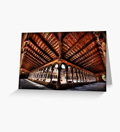 Cemetery Courtyard - Isola di San Michele, Venice Greeting Card