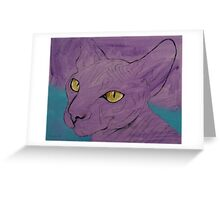 Purple Sphynx Greeting Card